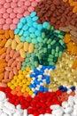 Pillole e ridurre in pani Fotografie Stock Libere da Diritti
