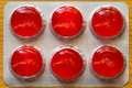 Pillole rosse Fotografie Stock