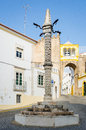 Pillory at Largo de Santa Clara, Elvas, Alentejo, Portugal Royalty Free Stock Photo