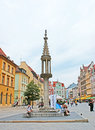 The pillory wroclaw poland july nowadays stone on market square serves as bench and place for meeting but in middle Stock Photos