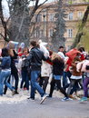 Pillow Fight Day 2012, Lublin, Poland Royalty Free Stock Photo