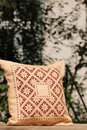 Pillow in the garden detail of pattern Stock Photos