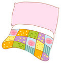 Pillow and quilt Royalty Free Stock Photo