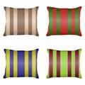 Pillow, a set of striped pillows