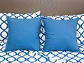 Pillows on a bed in room Royalty Free Stock Photo