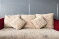 Pillows on comfortable sofa. Royalty Free Stock Photo