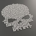 Pills forming a skull symbol Royalty Free Stock Photo