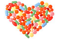 Pills Heart Royalty Free Stock Photo