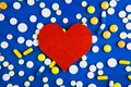 Pills and Heart Shape Royalty Free Stock Photo