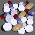 Pills set  in color 01 Royalty Free Stock Images