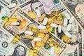 Pills on US money