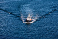 Pilot Boat Cutting Through Blue Water Royalty Free Stock Photo