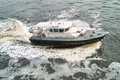 Pilot boat photo of in abidjan harbour Stock Photos