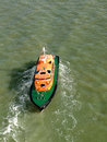 Pilot boat in the river thames in england Stock Photo