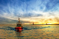 Pilot boat on sea Royalty Free Stock Photo