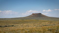 Pilot butte the in the plains of wyoming Royalty Free Stock Photography