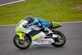 Pilote de Matthew V. Davies de 125cc dans le CEV Photo stock