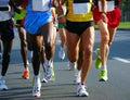 image photo : Marathon racers