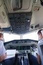 Pilots in aircraft cockpit geneva september etihad regional on september geneva switzerland darwin airline operating under the Royalty Free Stock Images