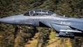 F15 USAF fighter jet cockpit in flight Royalty Free Stock Photo