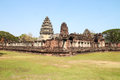 Pimai Castle, a ancient castle in Thailand Stock Photos