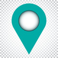 Pin icon vector. Location sign in flat style on isolated backgro