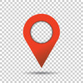 Pin icon vector. Location sign in flat style isolated on isolate