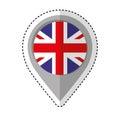 Pin location britain flag icon