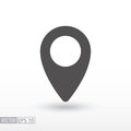 Pin location - flat icon Royalty Free Stock Photo