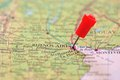 Pin in map of Buenos Aires, Argentina Royalty Free Stock Photo