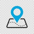 Pin map icon in flat style. Gps navigation vector illustration o