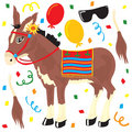 Pin the tail on the Donkey Party elements Royalty Free Stock Photography