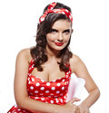 Pin-up-Girl. Lizenzfreies Stockfoto