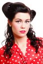 Pin-up girl American style retro woman Royalty Free Stock Images