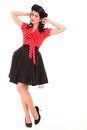 Pin-up girl American style retro woman Royalty Free Stock Photography