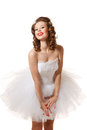 Pin up girl bride professional make hair and style Royalty Free Stock Photo