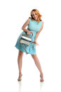 Pin Up Girl holding a watering can Stock Image
