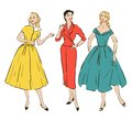 Pin up girls retro in mid century style Royalty Free Stock Image
