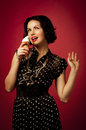 Pin-up portrait Royalty Free Stock Photography