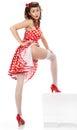 Pin-up woman posing, Royalty Free Stock Photo