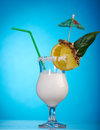 Pina Colada - cocktail com creme Fotografia de Stock Royalty Free