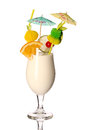 Pina colada fresh Coctail isolated on white