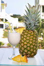 Pina Colada with Pineapple Stock Images