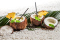 Pinacolada drink in coconut Stock Image