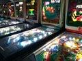 Pinball Machines in Pinball Hall of Fame Royalty Free Stock Photo