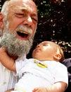pinching grandpa Royalty Free Stock Photo