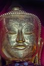 Pindaya caves buddha statue head detail inside of witch are buddhist shrines where thousands of images have been Stock Photo