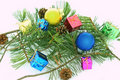Pine Christmas ball Royalty Free Stock Images
