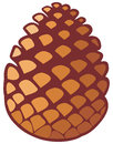 Pine cone tree symbol Royalty Free Stock Photography