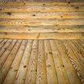 Pine floor and wall Royalty Free Stock Photos